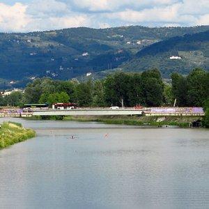 Il ponte G.Da Verrazzano visto dal Ponte San Niccolò