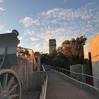 Rocky Hill War memorial at Sunset