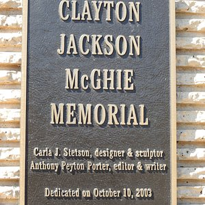 The plaque at the edge of the memorial