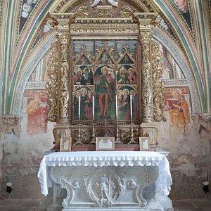 La pala (i nomi dei santi sono scritti in friulano!)