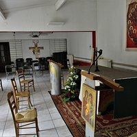 Intérieure de la chapelle annexe, durant les travaux