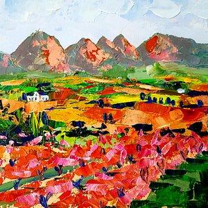 Vineyards paintings of Stellenbosch