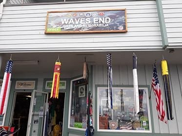 Hello everyone! Bruce and Autumn would like to welcome you back to our store! We are open 7 days a week from 11:00ish to 5:00ish. Our store is called Waves End in Depoe Bay. We have been a Veteran owned family owned store since 2005. We don't have customers we have friends! We sell Police, Military and Fire Department gifts and memorabilia. Tee shirts, hats, pins and patches and more! We have Gadsden tees, hats, windsocks, flags, pins, decals ect. and all things patriotic!