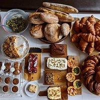 Cakes, sourdough bread, pastries, salads, cookies, brownies..
