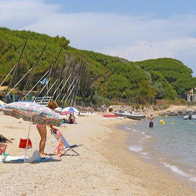 La plage de Beauvallon à Grimaud