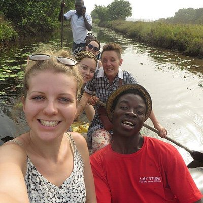 A trip to the lovely stilt village in Ghana. Takes about 45 minutes in a canoe