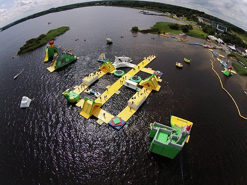 Irelands Largest Inflatable floating waterpark