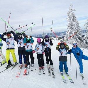 Ski & Snowboard School Snow Art
