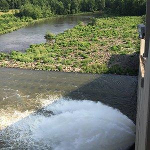 Hoover Reservoir Dam flow