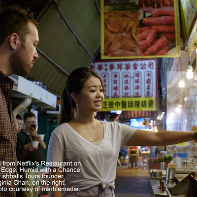 "Humid with a Chance of Fishballs Tours Limited was featured on Netflix's Restaurants on The Edge, Season 1, 2nd episode in Hong Kong & we were called the ""Hong Kong Street Food experts"". You can find founder, Virginia Chan, on the episode thumbnail eating fishballs and taking Chef Dennis around town in the episode."