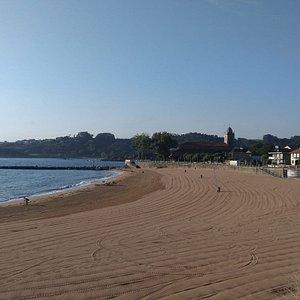 vista oeste playa de Luanco