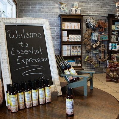 Welcome to Essential Expressions! Be sure to always take a look at the small table when you walk in for deals, specials, and more!