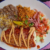 Pollo Asado Burrito!  You will definitely get full eating this.