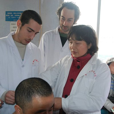 a photo of me working in the chinese medicine hospital in Chengdu, Si-Chuan province, China