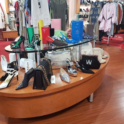 Rina's Boutique sells designer shoes, handbags, clothes and accessories for men, women and children.