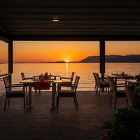 Sunset in Domižana Restaurant. Cavtat