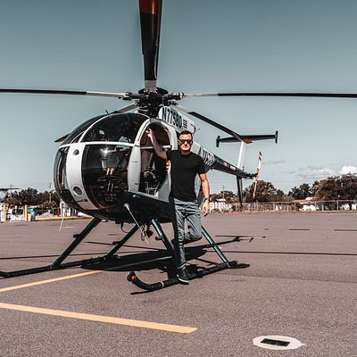 Niclas Herle at his MD500 Helicopter in Venice FL