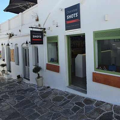 Chocolate Shots store in Apollonia, Sifnos