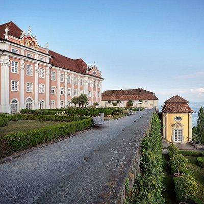 Neues Schloss Meersburg mit Blick auf den Bodensee Fotograf: Günther Bayerl