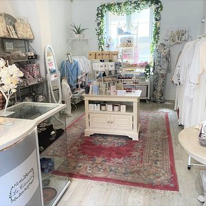 Inside of the shop - babywear, textiles, home fragrance, nightgowns
