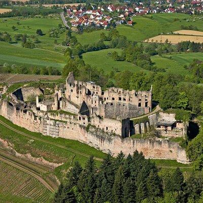 Luftaufnahme Hochburg bei Emmendingen Fotograf: Achim Mende