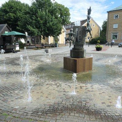 Fontänen på Hagatorget i Söderköping