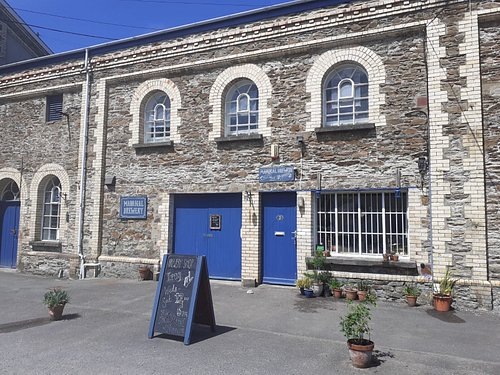Outside the brewery - a former Edwardian gas works