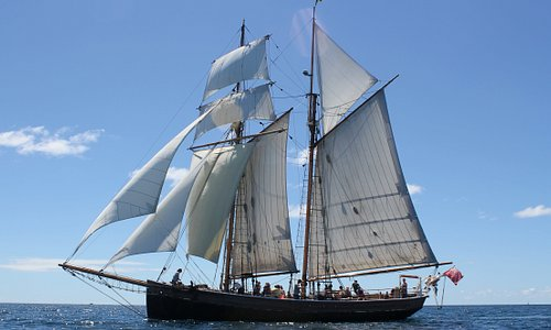 Day sail under full sail