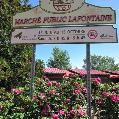 La Marché Public Lafontaine.  Année 2020: de 9h à 14h