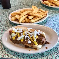 Coney dog & steak fries ~