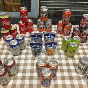 Selection of soft drinks for those warm days!