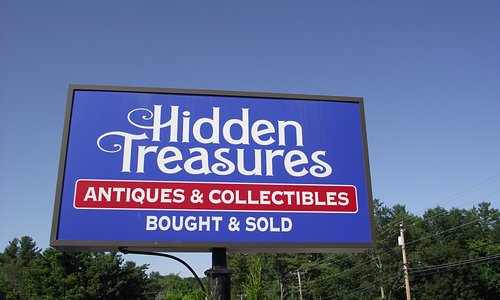 ME - YORK - HIDDEN TREASURES - SIGN NEAR ROAD