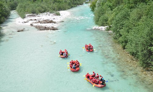Rafting on the most beautiful river Soča