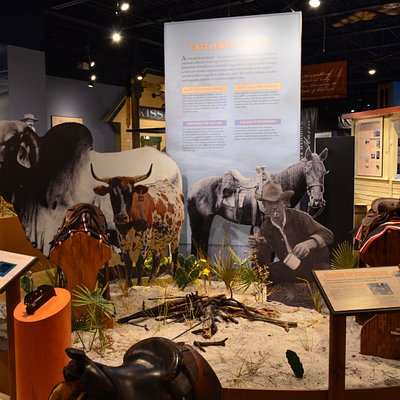 The Osceola County Welcome Center & History Museum explores the cultural and natural history of Osceola County. The museum features exhibits about early Seminole life, the natural environment, and the cattle and citrus industry.