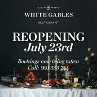 Our Restaurant re-opens July 23rd for Dinner each Thursday, Friday and Saturday. Two sittings 18:30 and 21:00