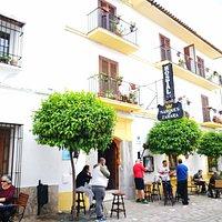 Terraza del Restaurante Don Rodrigo del Hostal Rural Marques de Zahara