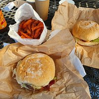 Best burgers and sweet potato chips