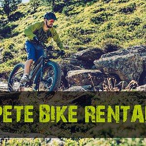 E-Fatbike und E Fully-Fatbike Verleih / Rental @ Sport PETE in St. Anton am Arlberg