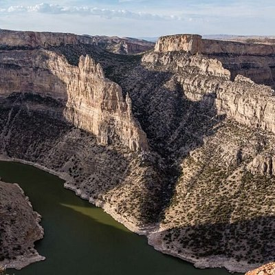 The view of Bighorn Canyon