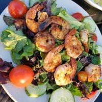 shrimp over salad