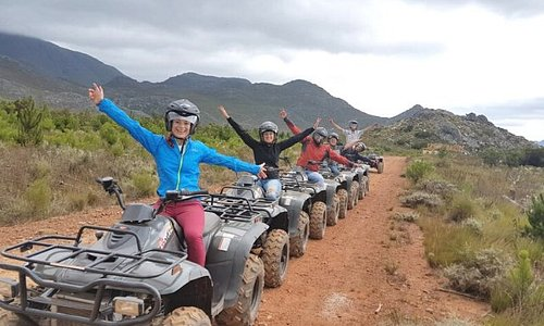 Elgin Grabouw Quad Biking Trails Come and experience one of the most amazing adventures on four wheels with our tailor-made Quad Biking trails in Grabouw, departing from Trails End Bike Hotel. We start your activity with a thorough safety briefing and quick test lap where we will then make our way through a section of forest leading to the open mountain track.  Join us today for an unforgettable and unbeatable Quad Biking experience.