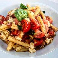 Pasta Checca con tomate