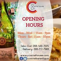 C&C Wine House Opening Hours - Current as of June 2020