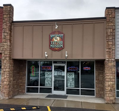 The Norhtwest Tattoo Museum is located at 2934 North Government Way, Coeur d'Alene, Idaho 83815