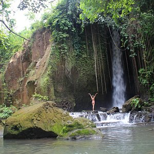 Stunning hidden waterfall not far from the heart of tourist place in Bali