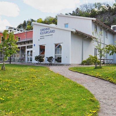 Grenna Kulturgård. Huvudentré till Grenna Museum.