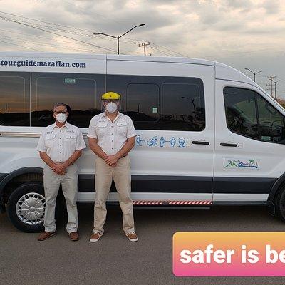 Tour Guide Mazatlan Vehicle Sanitization Protocols 🚐👌🏼🥇😷👟 Full Sanitization After Transportation👨🔬🥽🚐 High Traffic Areas frequent cleaned🦺🧼 Luggage Sanitization on Airport Pickups✈🧳 Join us: www.tourguidemazatlan.com 🇺🇲🇲🇽🇨🇦