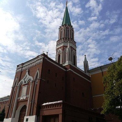 Никольская башня Московского Кремля, Красная площадь, Москва.