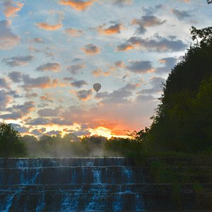 """Beautiful Thunder Bay Falls in The Galena Territory! Visit thegalenaterritory.com or call 815-777-2000 to """"Come for a visit, Stay for a Lifestyle!""""  #galenacountry #galenaillinois #galenaIL #enjoyillinois #gettogalena #thunderbayfalls"""