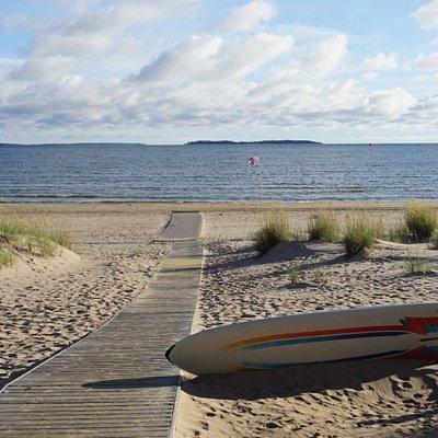 The sandy beach is 6 kilometres long!